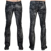 Uomo i pantaloni (jeans) WORNSTAR - Hellraiser Smoke - Nero - WSGP-HRKSW