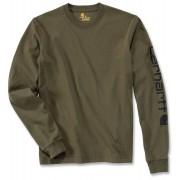 Carhartt Logo Camisa de manga larga Verde Oscuro L