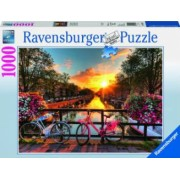 PUZZLE BICICLETE IN AMSTERDAM 1000 PIESE Ravensburger