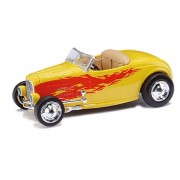 Ricko 38497 Ford Hot Rod Roadster Yellow With Flames 1932 Ho Scale Model Vehicle
