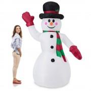 [en.casa]® Надуваем снежен човек -240 см. с LED осветление
