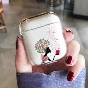 Cartoon Pattern Hard PC Earphone Cover Case for Apple AirPods with Charging Case (2016) (2019) / Apple AirPods with Wireless Charging Case (2019)