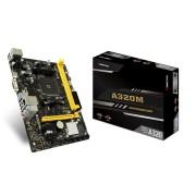 Tarjeta Madre Biostar A320MH socket AM4 2DDR4 / HDMI / VGA / PCIE3.0 / 2USB3.1