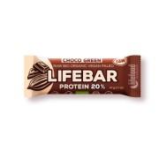 Lifebar plus baton cu ciocolata si proteine raw eco 47g