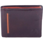 New Tareen Men Casual Brown Genuine Leather Wallet(3 Card Slots)