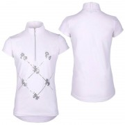 QHP Wedstrijdshirt Lana Junior - white - Size: 140