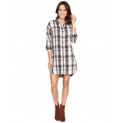 Alternative Apparel Yarn-Dye Flannel Timberwood Shirtdress Grey Plaid
