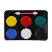 ELECTROPRIME 6 Colours Make Up Face Paint Palette Halloween Clown Fancy Painting Kits Set