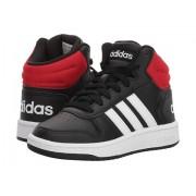 adidas Kids Hoops Mid 2 (Little KidBig Kid) BlackWhiteBright Blue