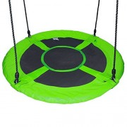60cm/24\ , Green : Hi Suyi 100cm/60cm Disc Giant Nest Web Rope Hanging Tree Swing Seat Set Heavy Duty Easy to Set Up For Kids Child Adult Outdoor Backyard Garden Large Small Size