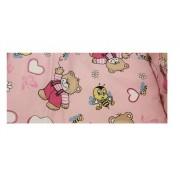 Paturica de vara Junior Ursi cu albine pe fond roz