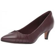 Clarks Linvale Crown Zapatos de tacón para Mujer, Cuero borgoña, 8 US