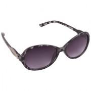 Aligator Grey UV Protection Oval Unisex Sunglasses