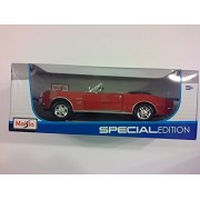 Special Edition 1967 Chevrolet Camaro RS/SS 396 Convertible Red - 1/18 Scale Diecast Model Toy Car Maisto