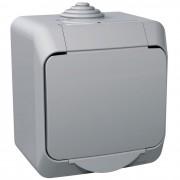 Intrerupator simplu IP44 Schneider Cedar WDE000610, gri (SCHNEIDER)