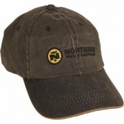 Northern Tool Men's Weathered Cotton Ball Cap - Brown, Model BC210-BRN