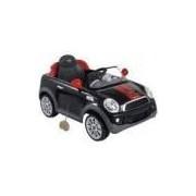 Mini Veículo Carro Elétrico Mini Cooper S Coupe Preto Kiddo