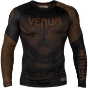Venum No-Gi 2.0 Long Sleeve MMA Compression Rashguard - Black/Brown...