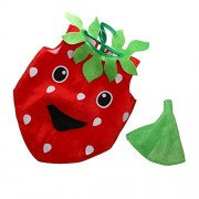 Electroprime® Kids Cartoon Strawberry Fruit Costume Set Fancy Dress Childrens Day Outfit
