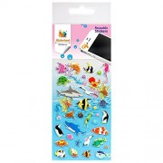 Fish Underwater World Learn and Play Stickers Reusable by 1sticker