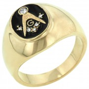 J Goodin Onyx Masonic Ring R05515G-V01