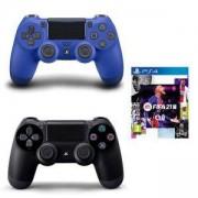 Геймпад - Sony PlayStation DualShock 4 Wireless, версия 2 , черен Black + Джойстик PlayStation 4 - DualShock 4 Wireless Controller, blue + ИГРА EA Fifa 21 Playstation 4 Standart Edition - PS4 / PS5