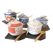 Set 5 Cupe Ceai cu Capac lucrate Manual