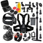 "Titan Set Accesorii GoPro 58 buc Profesional ""Voinic""- Kit Accesorii Gopro Profesional include Selfie Stick Profi"