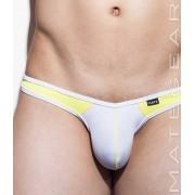 Mategear Nan Song XII Tapered Sides V Front Ultra Pouch Bikini Swimwear White 1501001
