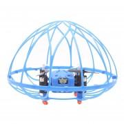 M73 4 Canales 2,4 GHz Radio Control Quadcopter FPV Flip 3D Con Luz LED Y 6 Ejes Gyro Y Controlador Remoto Y Con Forma De Hemisferio Cubierta Protectora (azul)