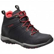 Columbia Women's Fire Venture Mid Waterproof Leather Trail boots - Black, Burnt Henna - Bottes Randonnée 10