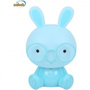 Zahab Cute Blue Bunny Cartoon Led Desk Lamp/Table Lamp/Night Light for Kids