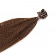 Rapunzel® Hair extensions Bondings Original Glatt 5.0 Brown 70 cm