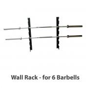Vægtstangholder 6 rack, vægmonteret