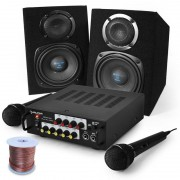"Electronic-Star Комплект караоке ""Pony`s Ranch"" с високоговорители, микрофон, 400W (PL-3554-2638)"