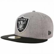 New Era 59Fifty Heather Raiders Cap Baseballcap Basecap Fitted NFL-Cap Flat Brim Oakland Kappe