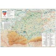 Harta Judetului Sibiu 100x70 cm sipci plastic