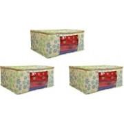 Fancy Walas Presents Presents non woven saree cover storage bags FW220_GRN(6)_PK03(Green)