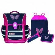 McNeill Ergo Pure Flex Mochila escolar con accesorios 4pcs. Butterfly