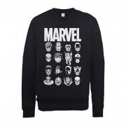 Marvel Sudadera Marvel Comics Multicabezas - Hombre - Negro - XXL - Negro