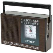 Radio portabil cu ceas XB-781 , alimentare la 220v si baterii