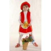 Костюм Красная шапочка (головной убор,жилет,юбка)