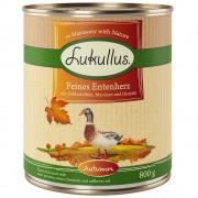 24x800g Lukullus őszi menü: finom kacsaszív nedves konzerv kutyatáp