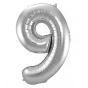 Sifferballong Silver 9