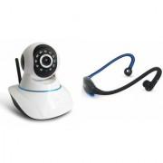 Zemini Wifi CCTV Camera and BS19C Bluetooth Headset for SAMSUNG GALAXY CORE LITE(Wifi CCTV Camera with night vision |BS19C Bluetooth Headset With Mic )