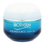 Biotherm Aquasource Night Spa balsamo notte effetto spa: idratante, lenitivo e levigante 50 ml donna