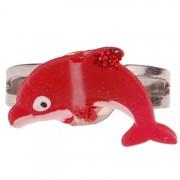 Ringetje dolfijntje rood