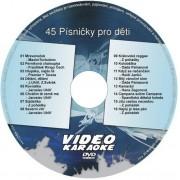 KARAOKE ZÁBAVA: Karaoke DVD 45 Písničky pro děti
