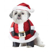 CALIFORNIA COSTUME COLLECTIONS Santa Pup Dog Costume, Large