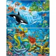 Set 2 Puzzle-uri Sirene 15 piese Larsen LRU15